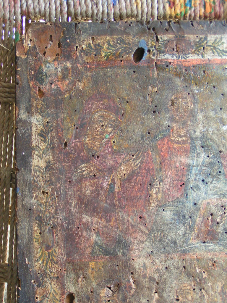 Αναλαμβάνουμε την συντήρηση και  αναπαλαίωση Βυζαντινών εικόνων( αγιογραφίες ), όπως  και τον καθαρισμό αλλά και της αισθητικής αποκατάστασης τοιχογραφιών σε Ιερούς Ναούς.