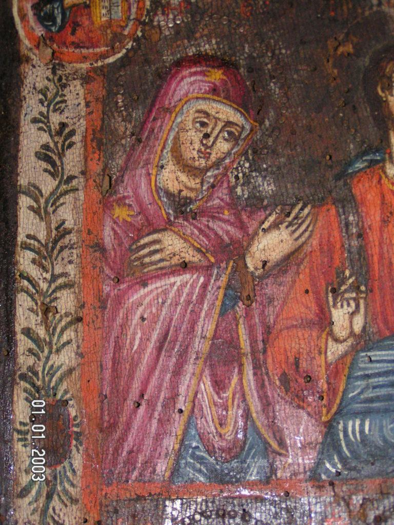 Αναλαμβάνουμε την συντήρηση και αναπαλαίωση βυζαντινών εικόνων ( αγιογραφίες ).  Καθώς και τον καθαρισμό άλλα και την αισθητική αποκατάσταση τοιχογραφιών σε Ιερούς Ναούς.